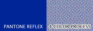 Solid Reflex Blue vs. A Dot Pattern